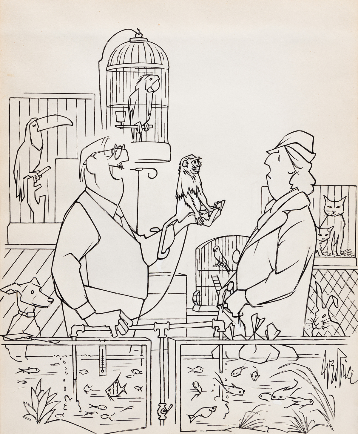 GEORGE PRICE (1901-1995) What better way to say Merry Xmas? [CARTOONS / NEW YORKER / CHRISTMAS]