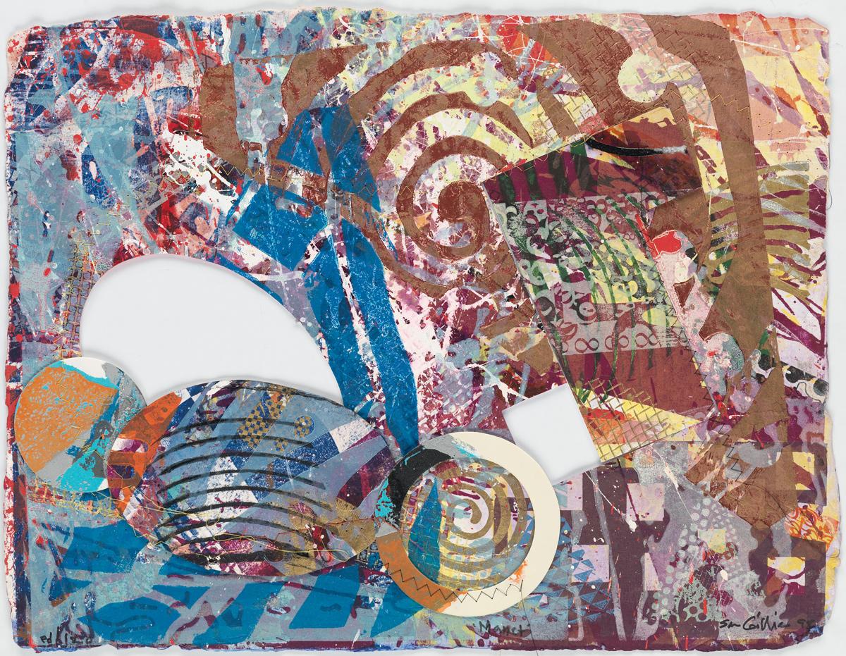 SAM GILLIAM (1933 -   ) Manet.