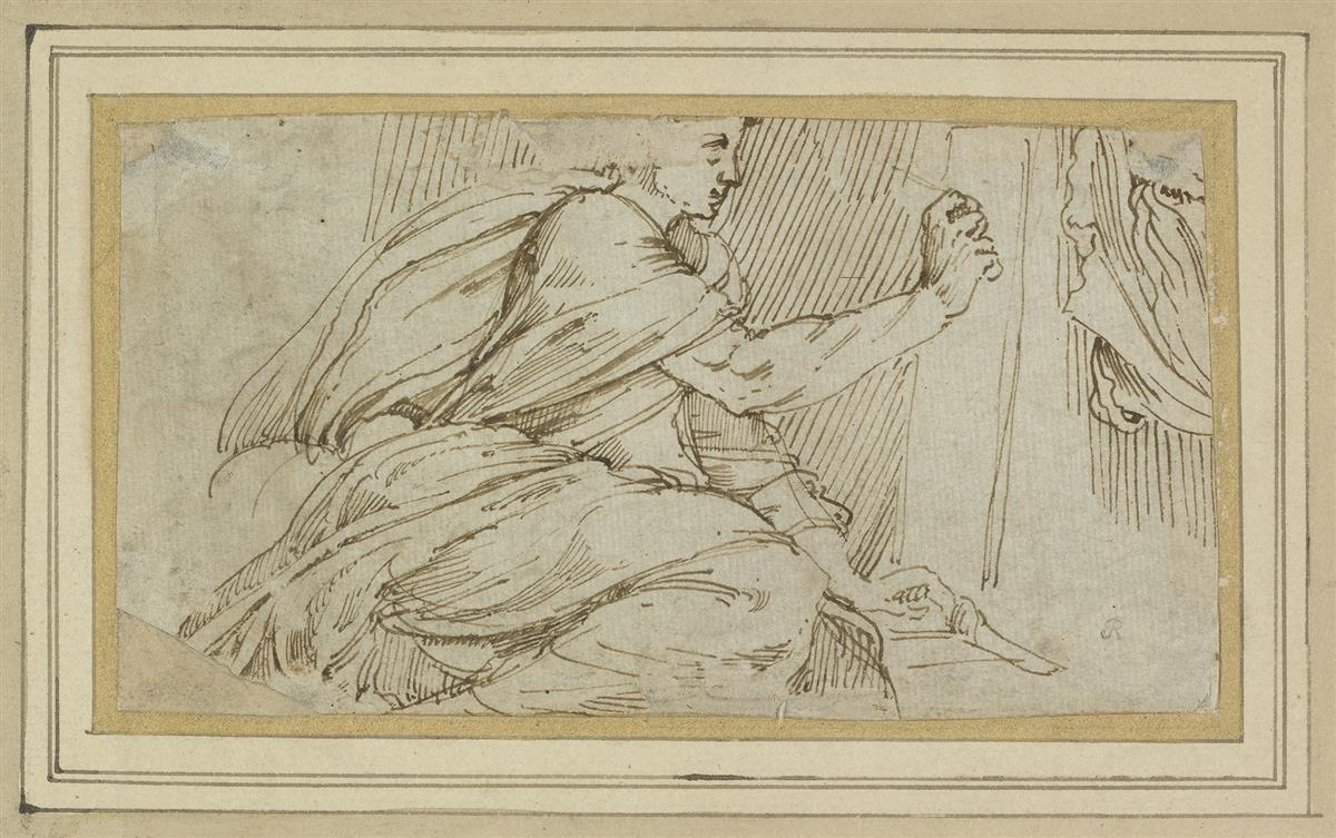 ITALIAN-SCHOOL-16TH-CENTURY-A-Study-of-Saint-Luke-Painting-t