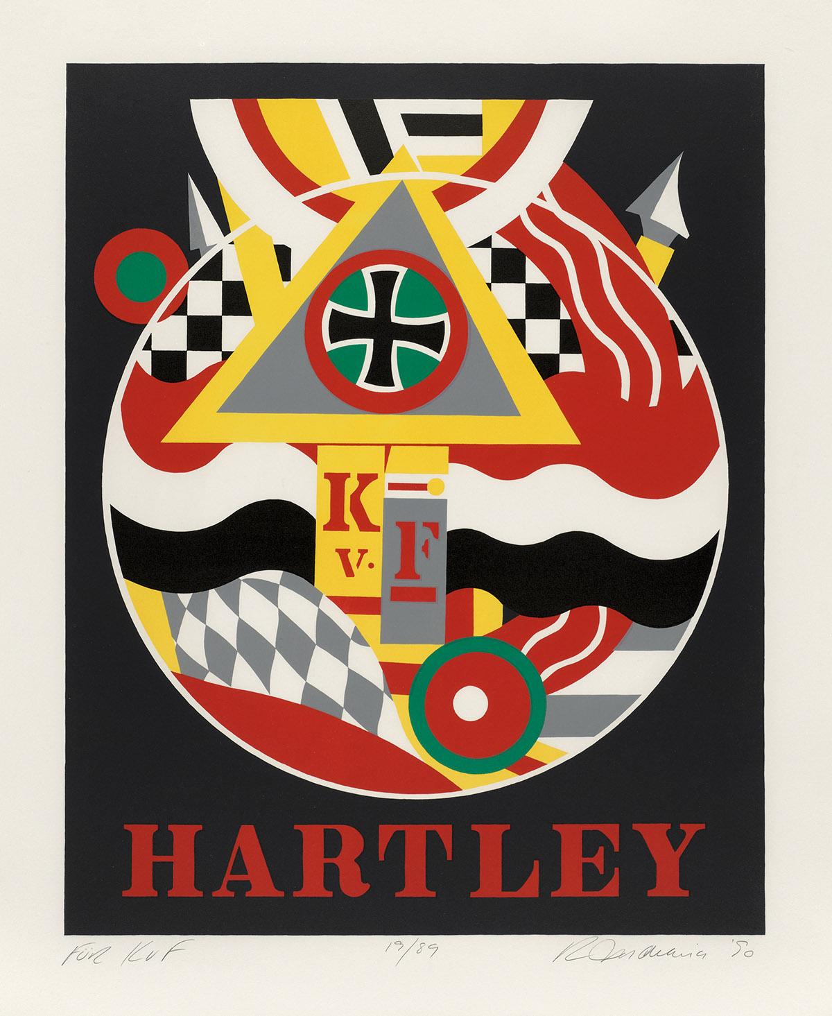ROBERT INDIANA Hartley Elegies: For KvF.