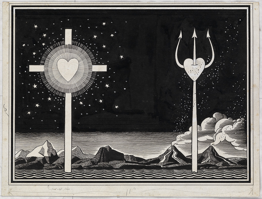 ROCKWELL KENT. Full-page drawing for endpapers of Candy.