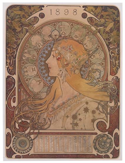 ALPHONSE-MUCHA-(1860-1939)-ZODIAC-1898-26-x-18-inches-66x47-