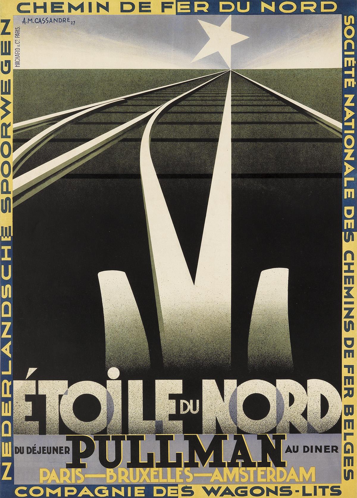 ADOLPHE-MOURON-CASSANDRE-(1901-1968)-ÉTOILE-DU-NORD-1927-41x
