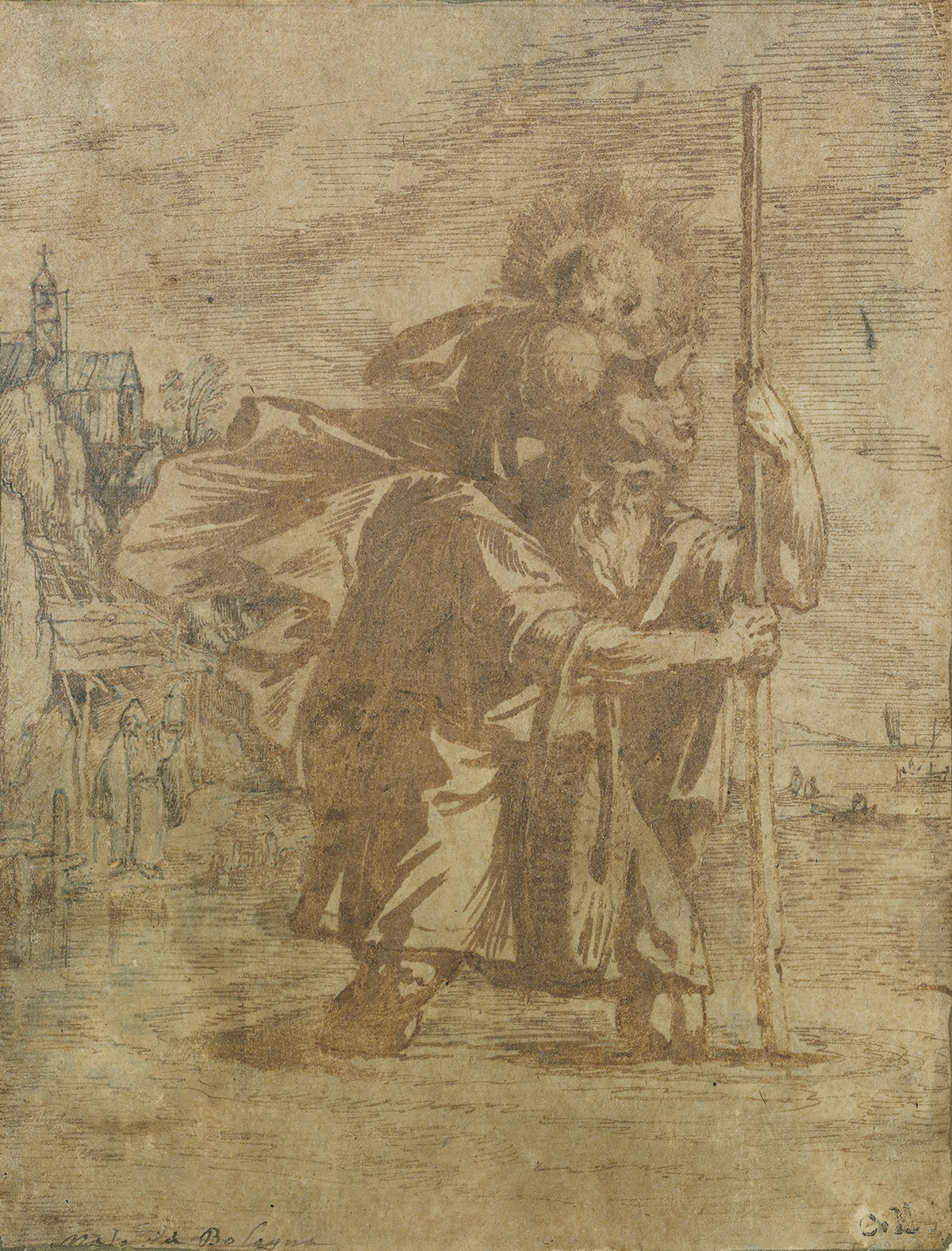 BOLOGNESE-SCHOOL-17TH-CENTURY-Saint-Christopher-Carrying-the
