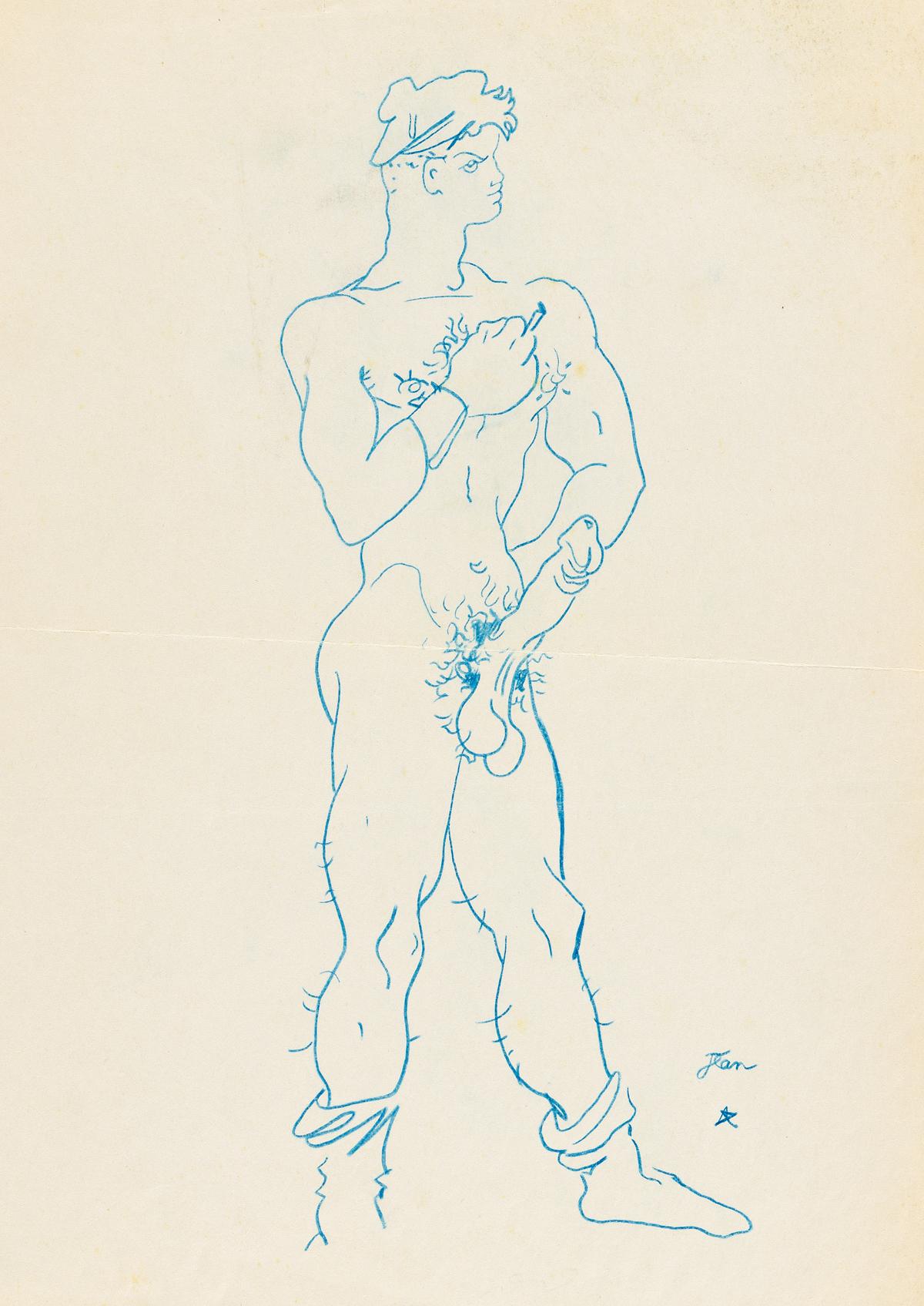 JEAN COCTEAU (1889-1963) Sailor.