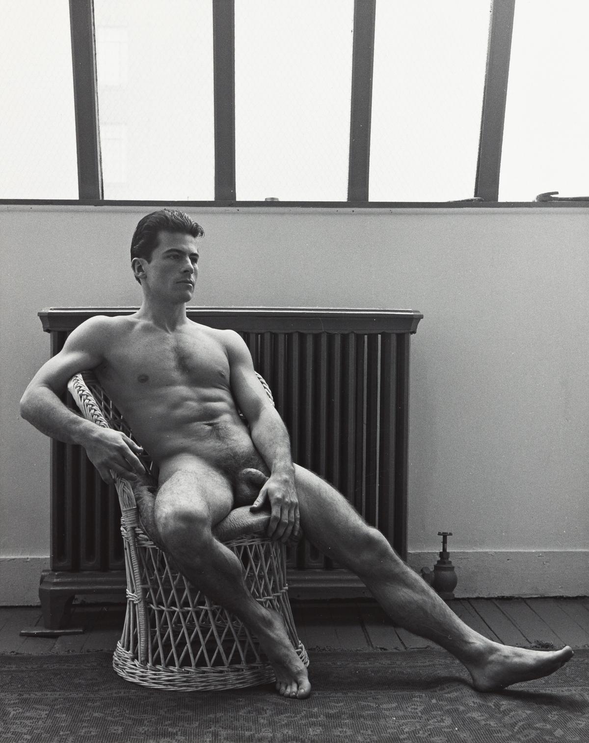ALEXANDER JENSEN YOW (1925-?) A pair of male nude studies.