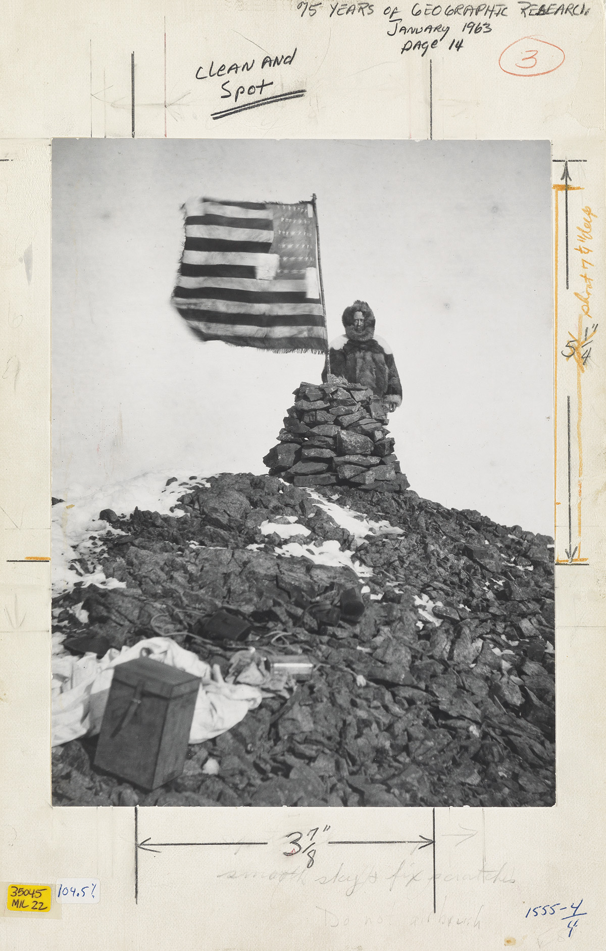(ROBERT PEARY) (1856-1920) Robert Peary, His Flag Waves above Cape Stallworthy (Cape Thomas Hubbard).