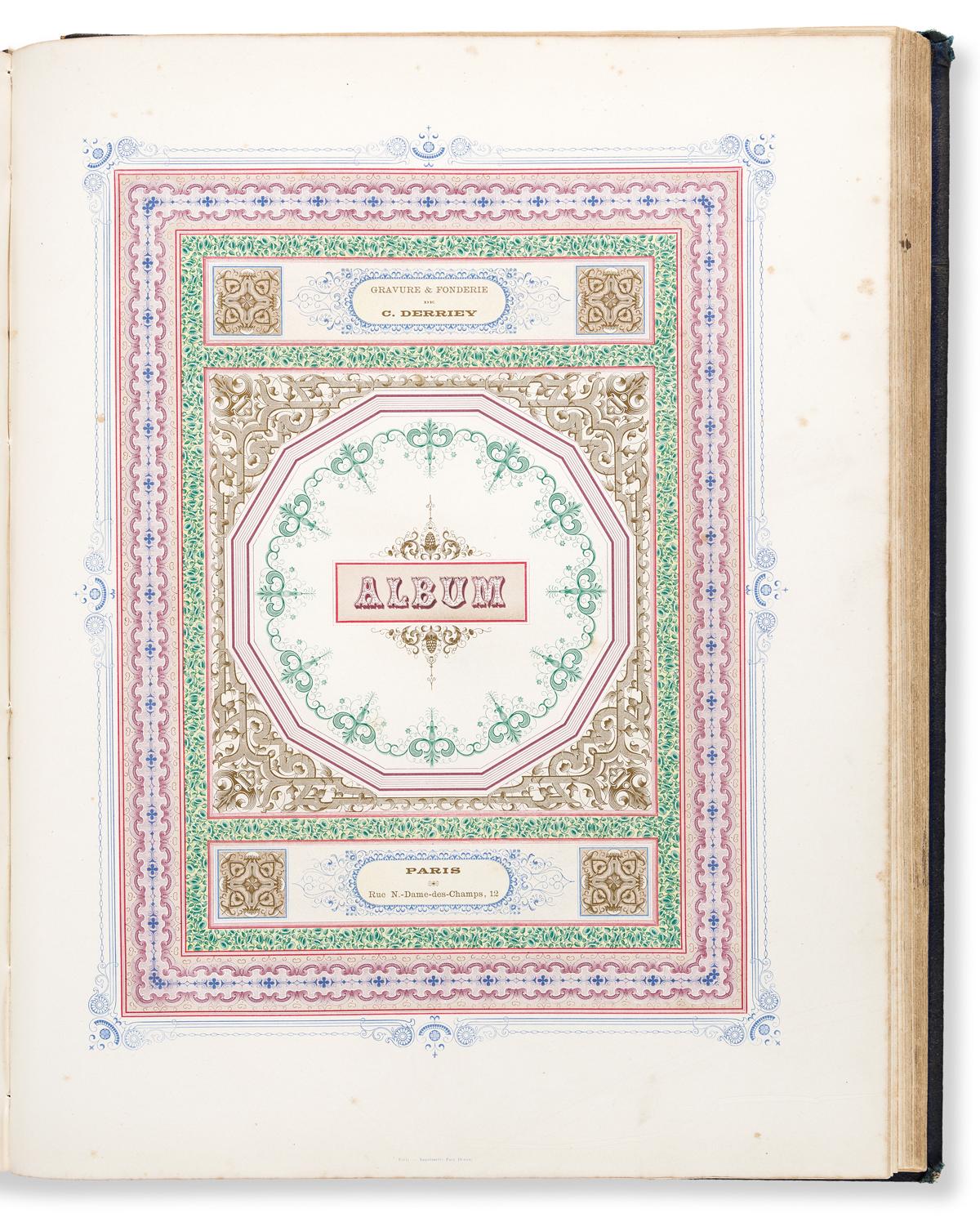 [SPECIMEN BOOK — C. DERRIEY]. Gravure et Fonderie de C. Derriey: Specimen-Album. Paris, 1862.