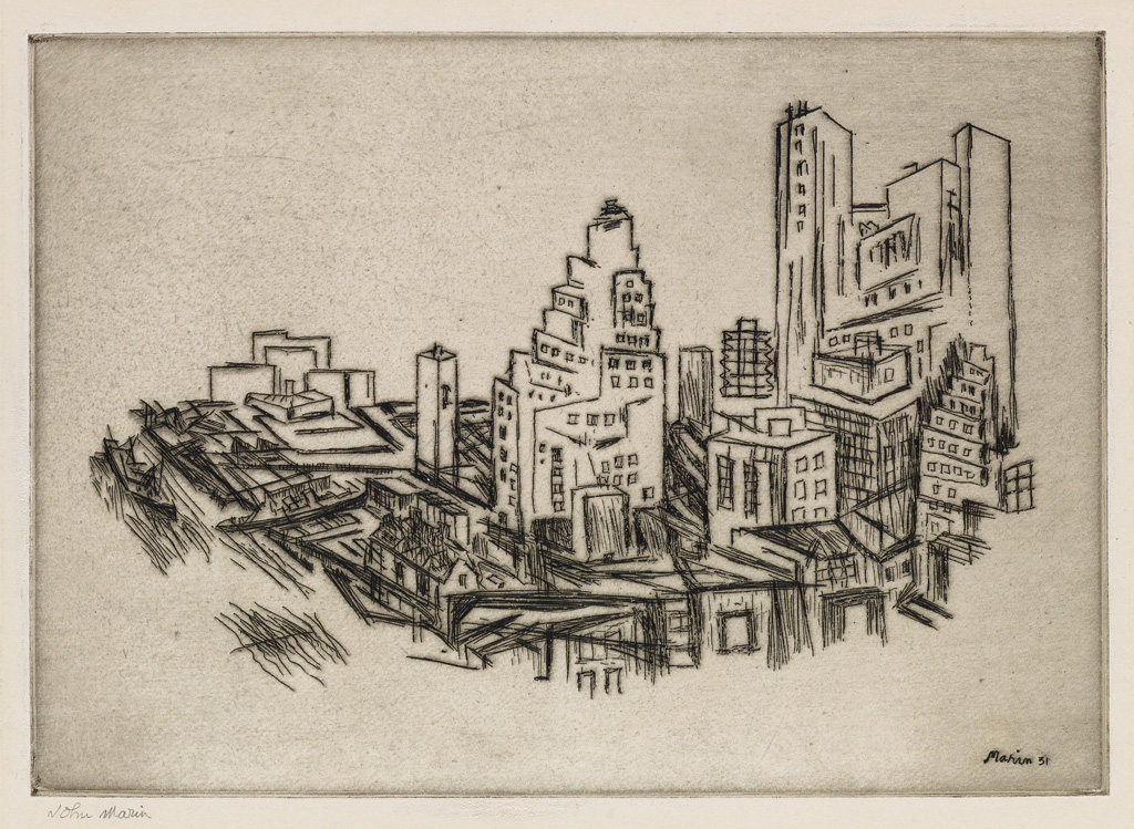 JOHN-MARIN-Lower-Manhattan-from-the-Bridge