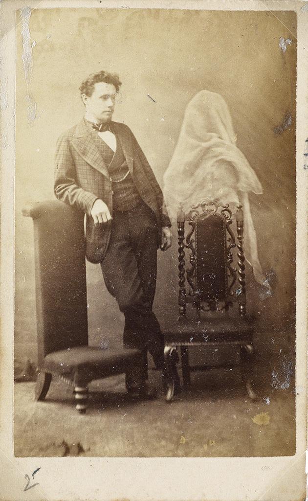 (SPIRITUALISM) Group of 10 cartes-de-visite of the famous Victorian-era British medium Georgiana Houghton