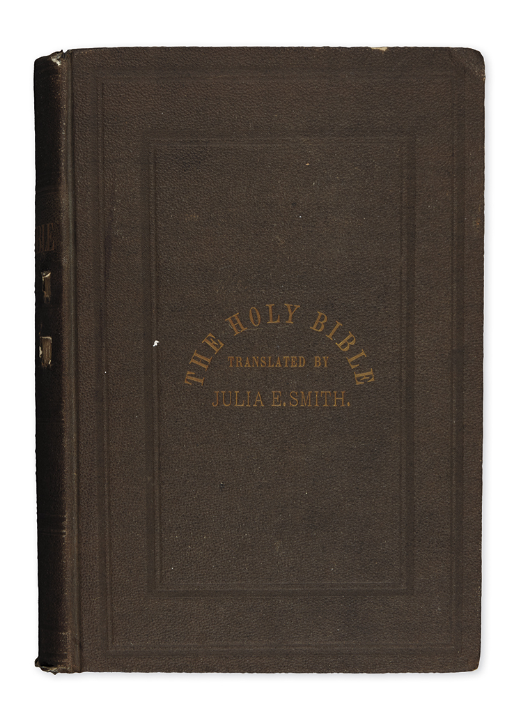 (BIBLE IN ENGLISH.) The Holy Bible: Containing the Old and New Testaments, Translated Literally from the Original Tongues.