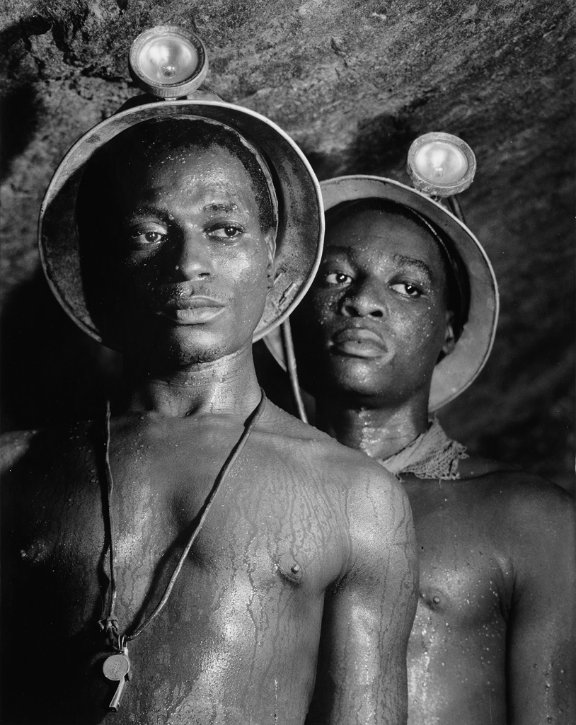 MARGARET BOURKE-WHITE (1904-1971) Gold Miners Nos. 1139 and 5122.
