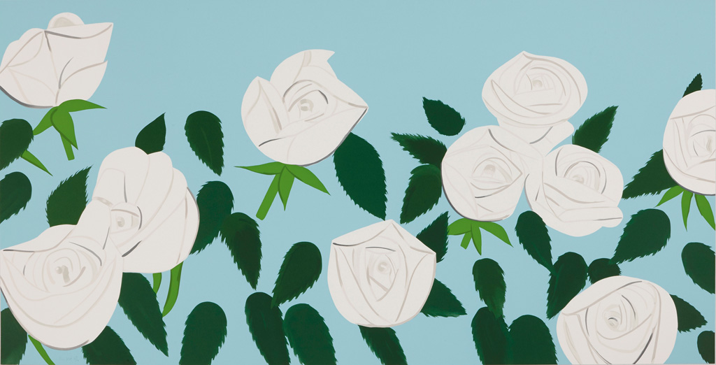ALEX KATZ White Roses.