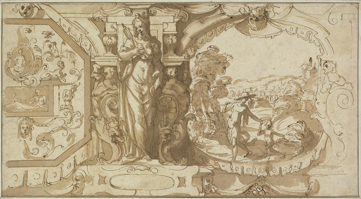 FLORENTINE-SCHOOL-16TH-CENTURY-A-Design-for-a-Decorative-Fri