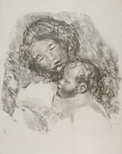 PIERRE-AUGUSTE RENOIR Maternité, grande planche.