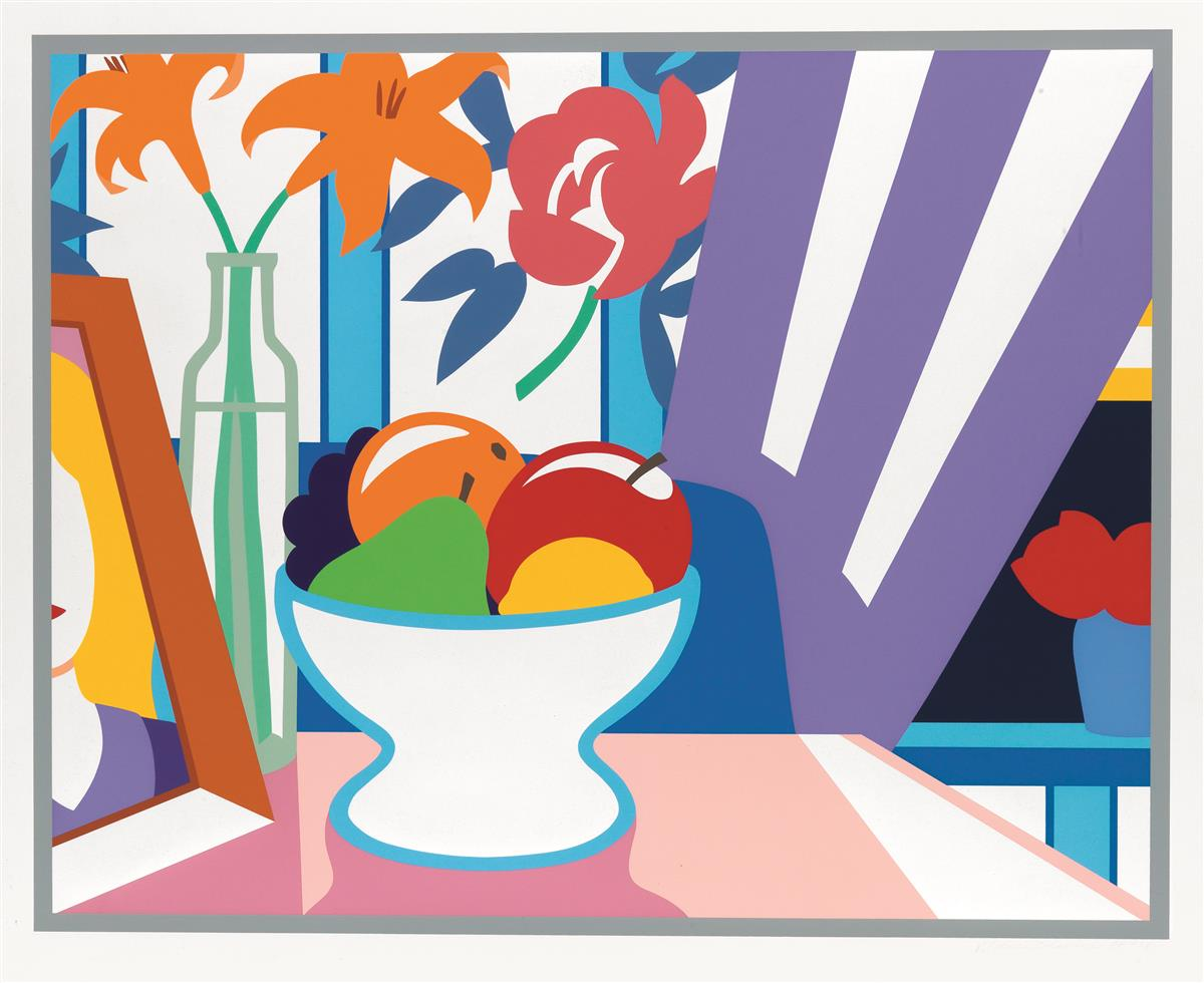 TOM WESSELMANN Still Life with Lillies and Mixed Fruit.