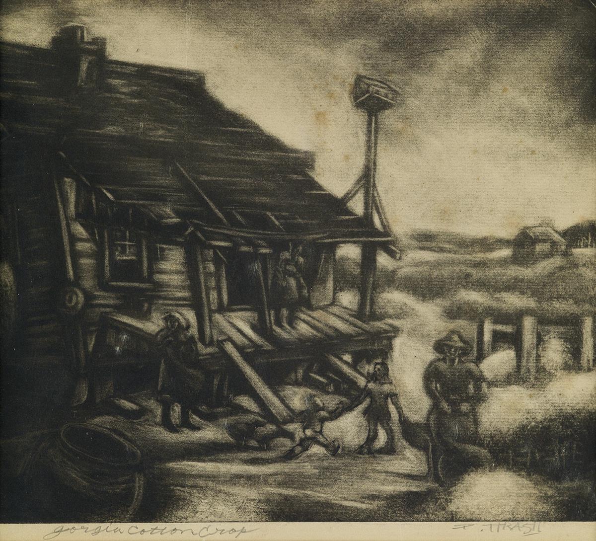 DOX-THRASH-(1893---1965)-Georgia-Cotton-Crop