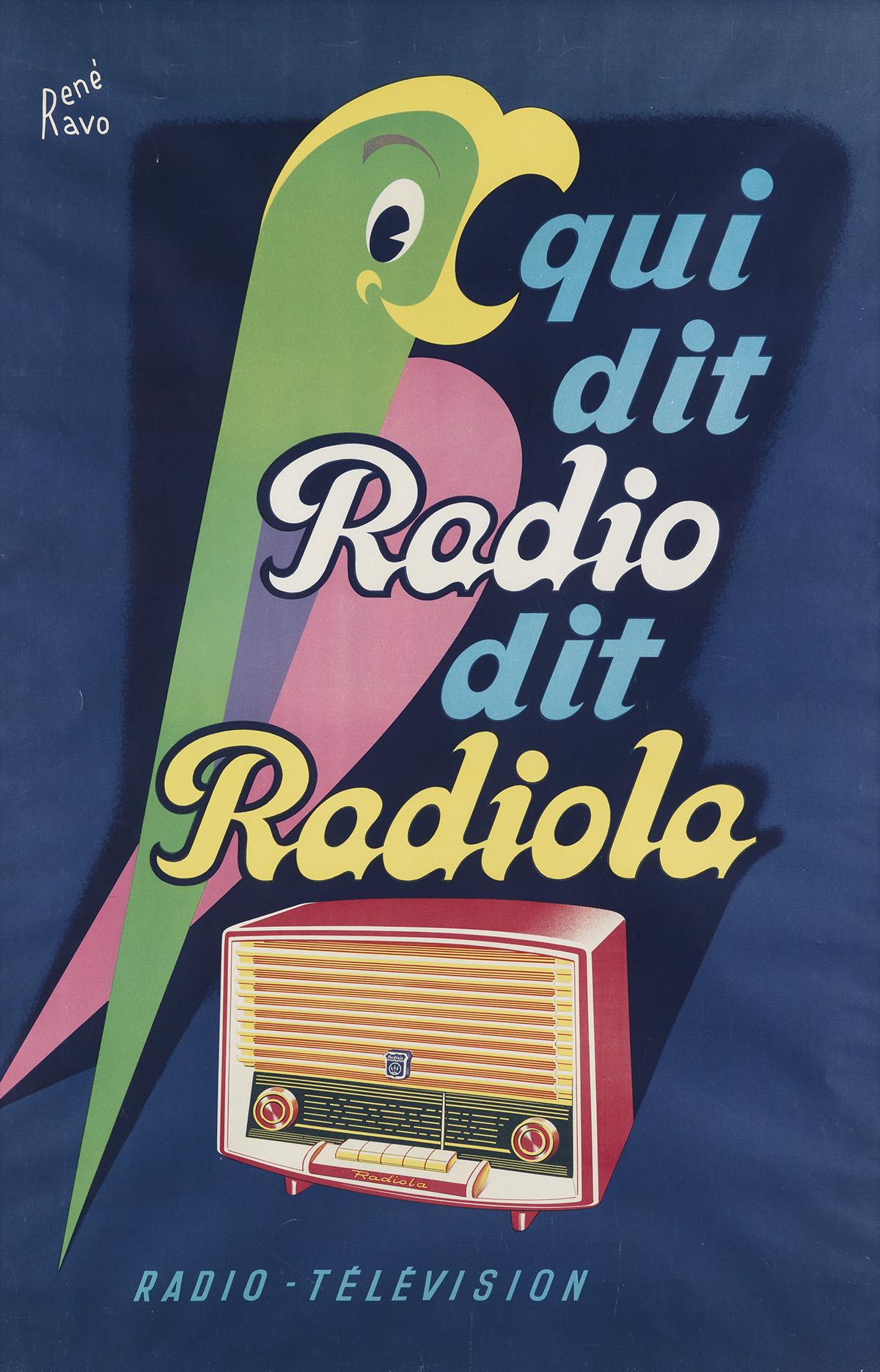 RENÉ-RAVO-(1904-1998)-QUI-DIT-RADIO-DIT-RADIOLA-Circa-1955-4