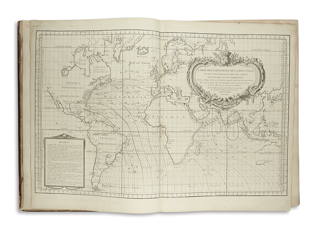 BELLIN, JACQUES-NICOLAS. LHydrographie Françoise recueil des cartes générales et particulieres