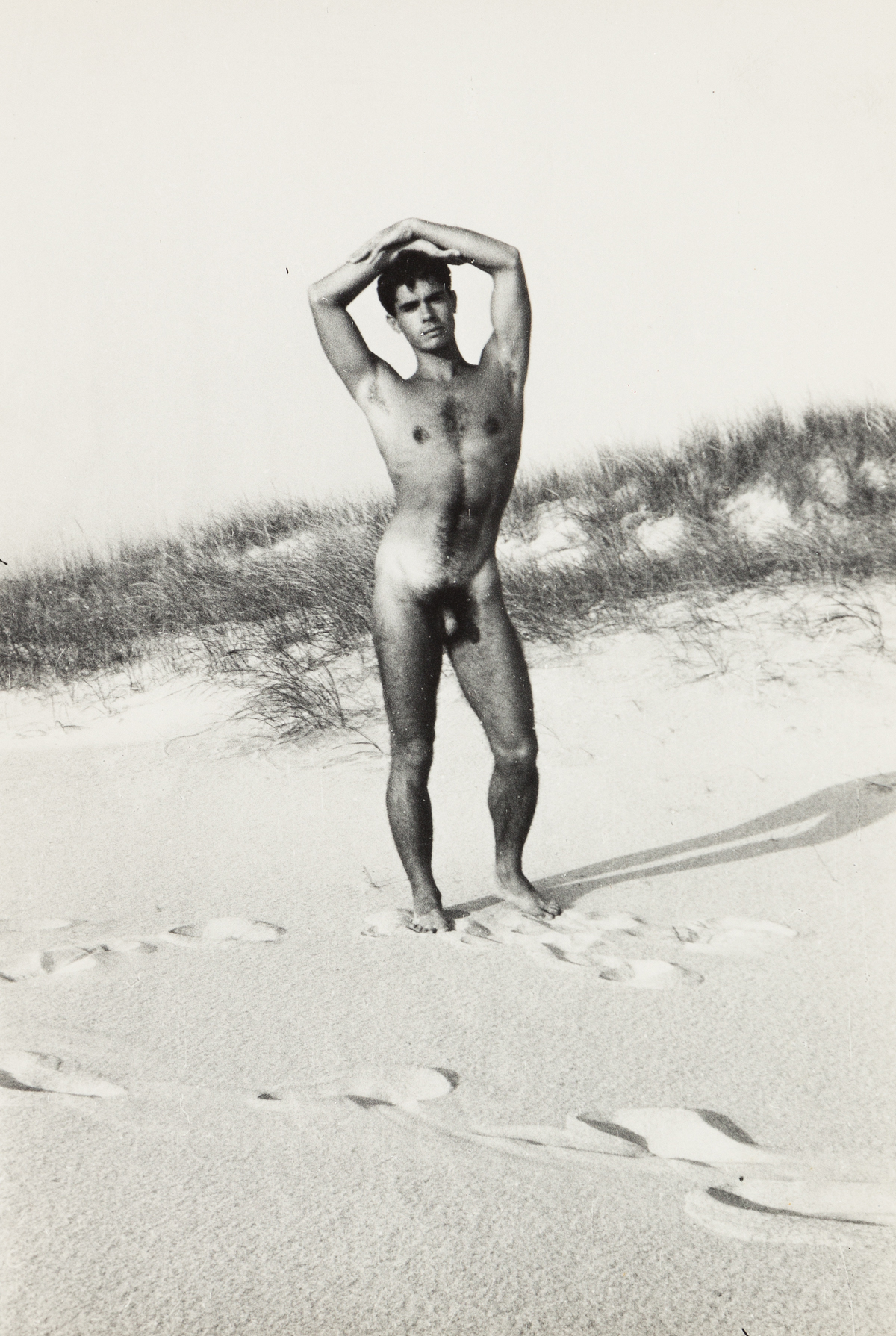 PaJaMa (PAUL CADMUS, JARED FRENCH, AND MARGARET FRENCH) Jose Martinez by J.F. [Jared French], Fire Island.