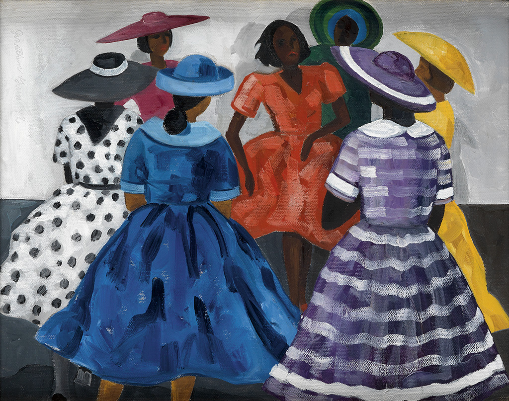 JONATHAN GREEN (1955 -   ) Untitled (Group of Women in Sunday Best).