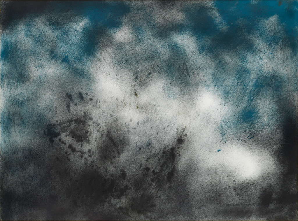 NORMAN LEWIS (1909 - 1979) Untitled (Abstraction in Blue and Black).