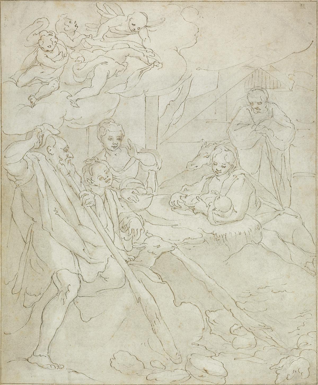 FLORENTINE-SCHOOL-17TH-CENTURY-The-Adoration-of-the-Shepherd