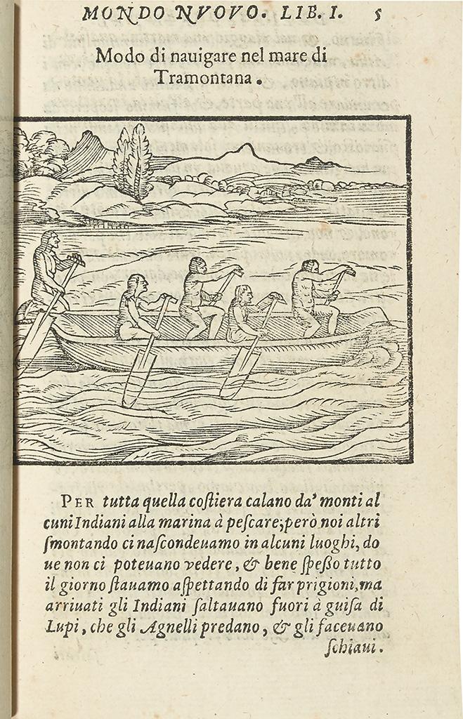 BENZONI, GIROLAMO. La Historia del Mondo Nuovo.  1572