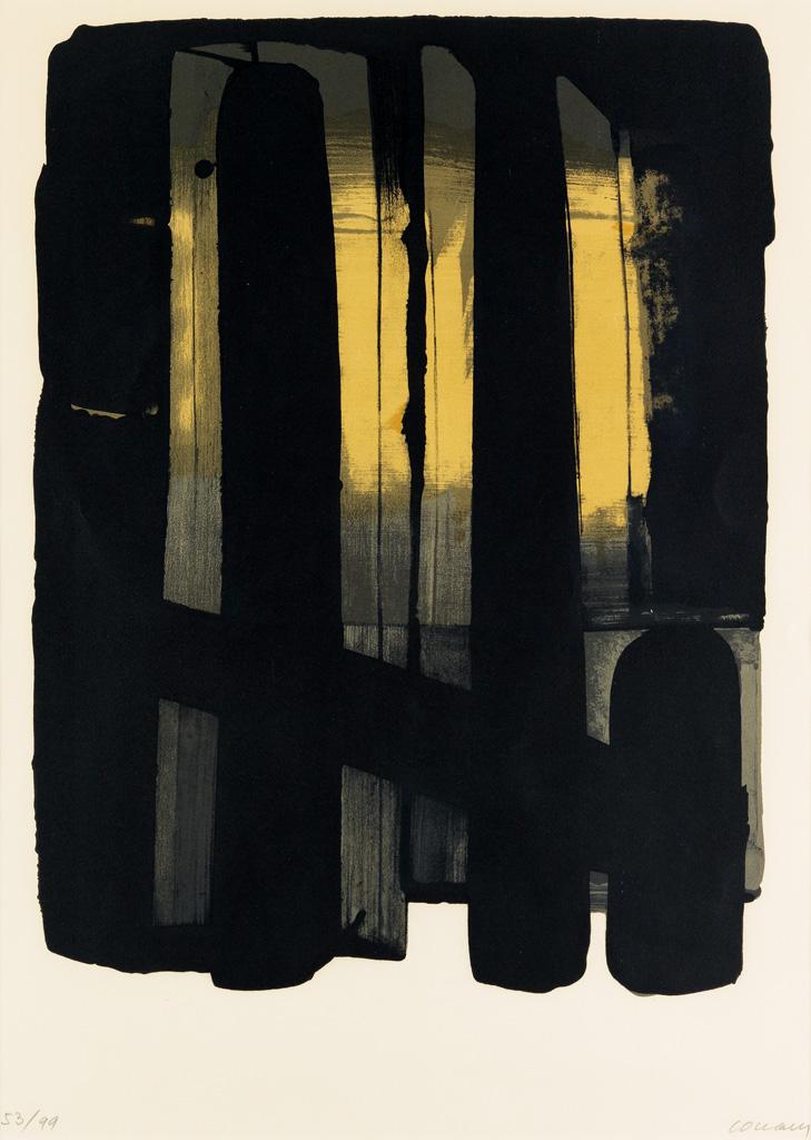 PIERRE SOULAGES Lithographie 38.