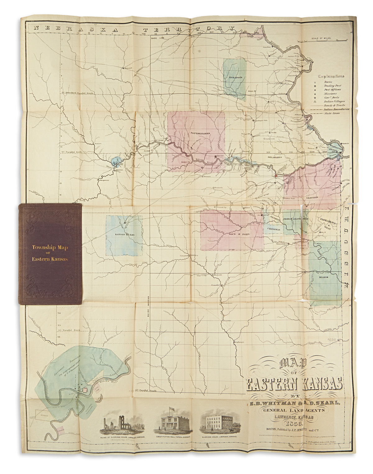 (KANSAS)-WHITMAN-EB;-AND-SEARL-AD-Map-of-Eastern-Kansas