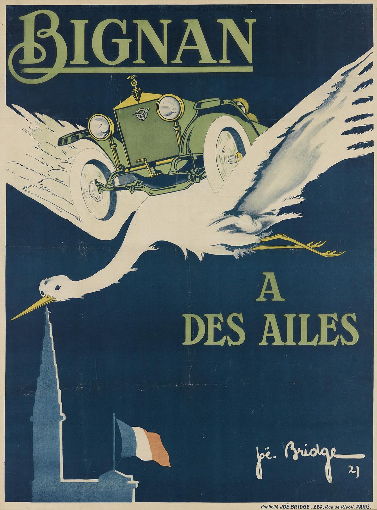 JOE-BRIDGE-(JEAN-BARREZ-1886-1967)-BIGNAN--A-DES-AILES-1921-