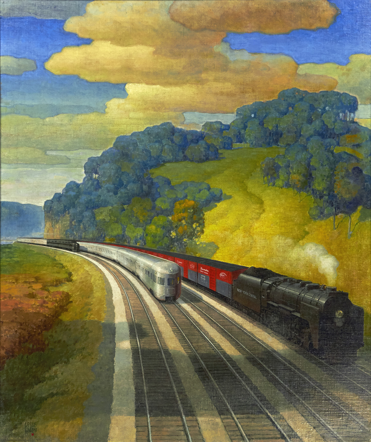 LESLIE-RAGAN-New-York-Central-System--[RAILROADS--TRAINS]