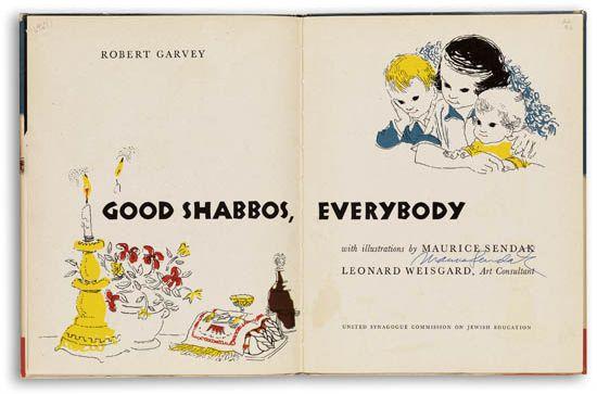 MAURICE SENDAK. Garvey, Robert. Good Shabbos, Everybody!