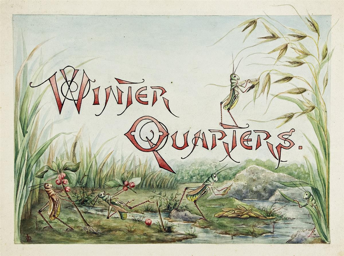 LILLIAN C. DAVIDS. Doings of the Grasshoppers. Winter Quarters. [CHILDRENS / INSECTS]