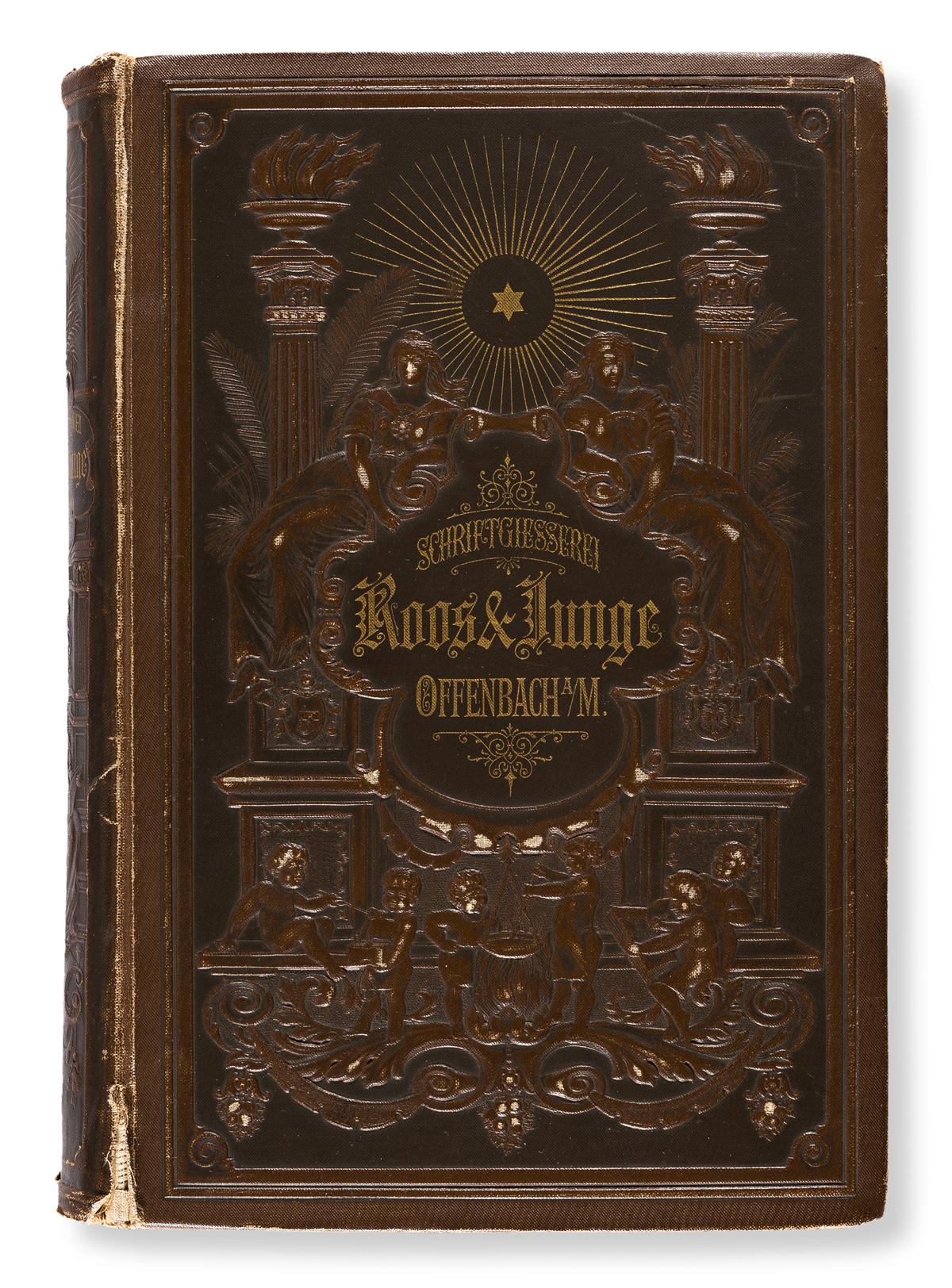 [SPECIMEN BOOK — ROOS & JUNGE]. Preis-Courant von Roos & Junge Schriftgiesserei. Offenbach am Main, [n.d. c. 1880].