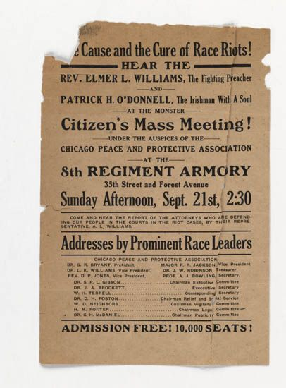 """(CIVIL RIGHTS.) RACE RIOTS. The """"""""Red Summer"""""""" of 1919."""
