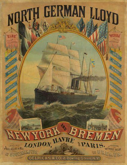 (NORTH GERMAN LLOYD LINE.) Werra (I). North German Lloyd. New York and Bremen.