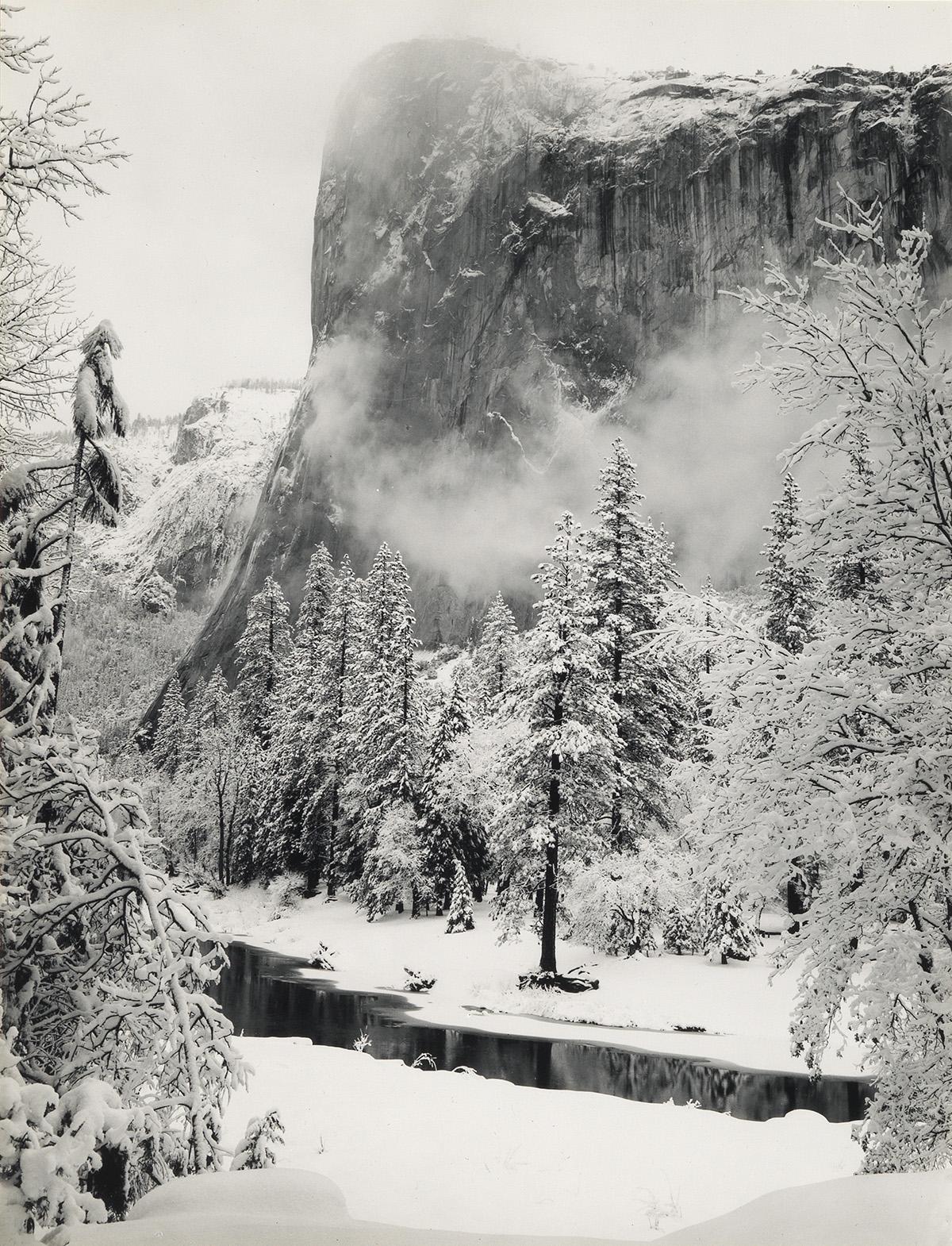 ANSEL-ADAMS-(1902-1984)-El-Capitan-Winter