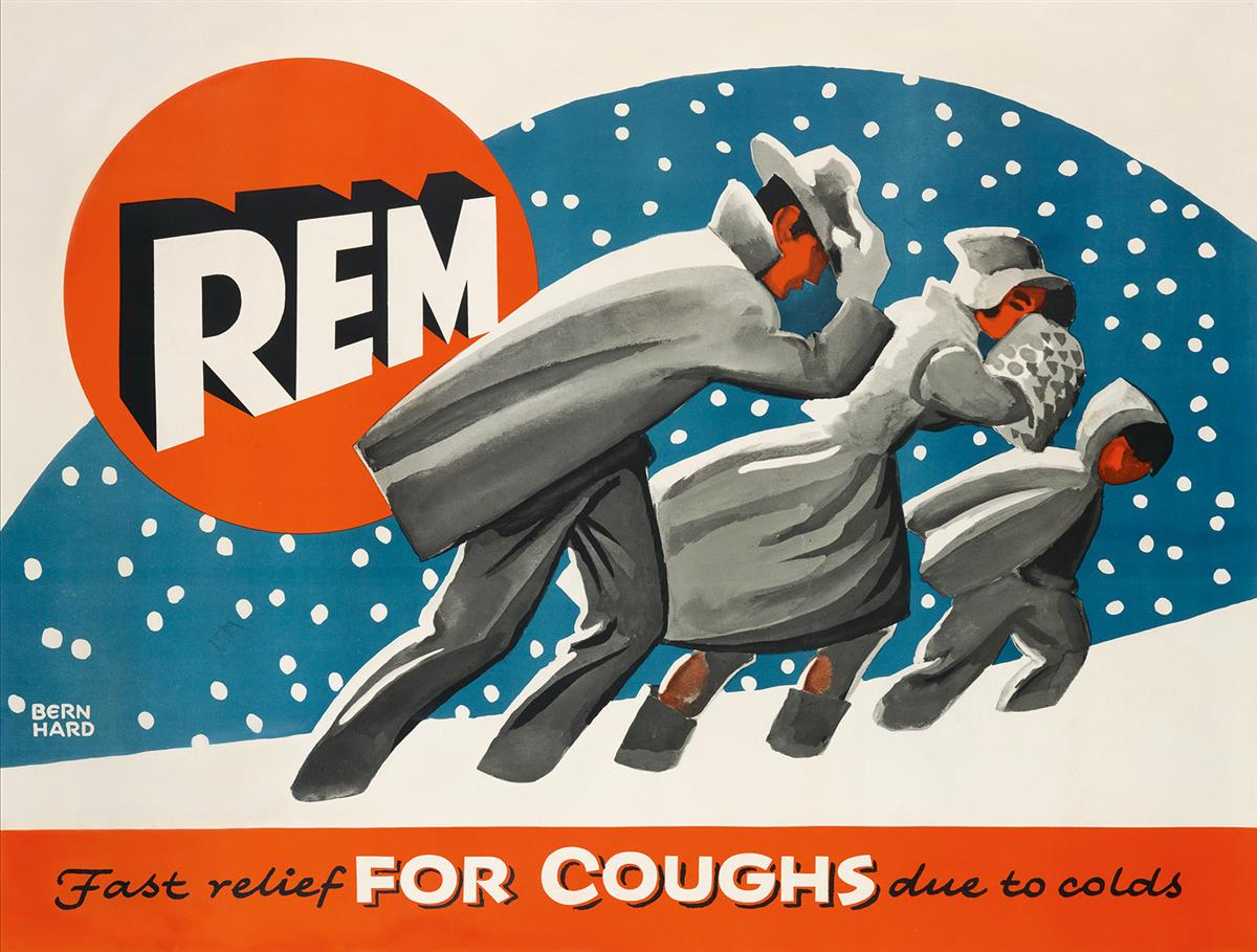 LUCIAN-BERNHARD-(1883-1972)-REM--FAST-RELIEF-FOR-COUGHS-DUE-