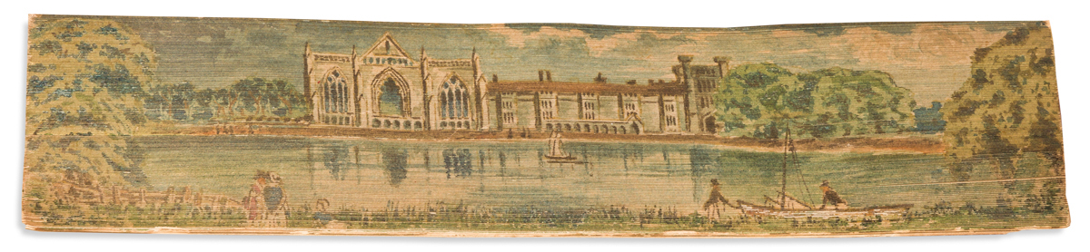 (FORE-EDGE PAINTING.) Palgrave, Francis Turner. The Golden Treasury of the Best Songs and Lyrical Poems in the English Language.