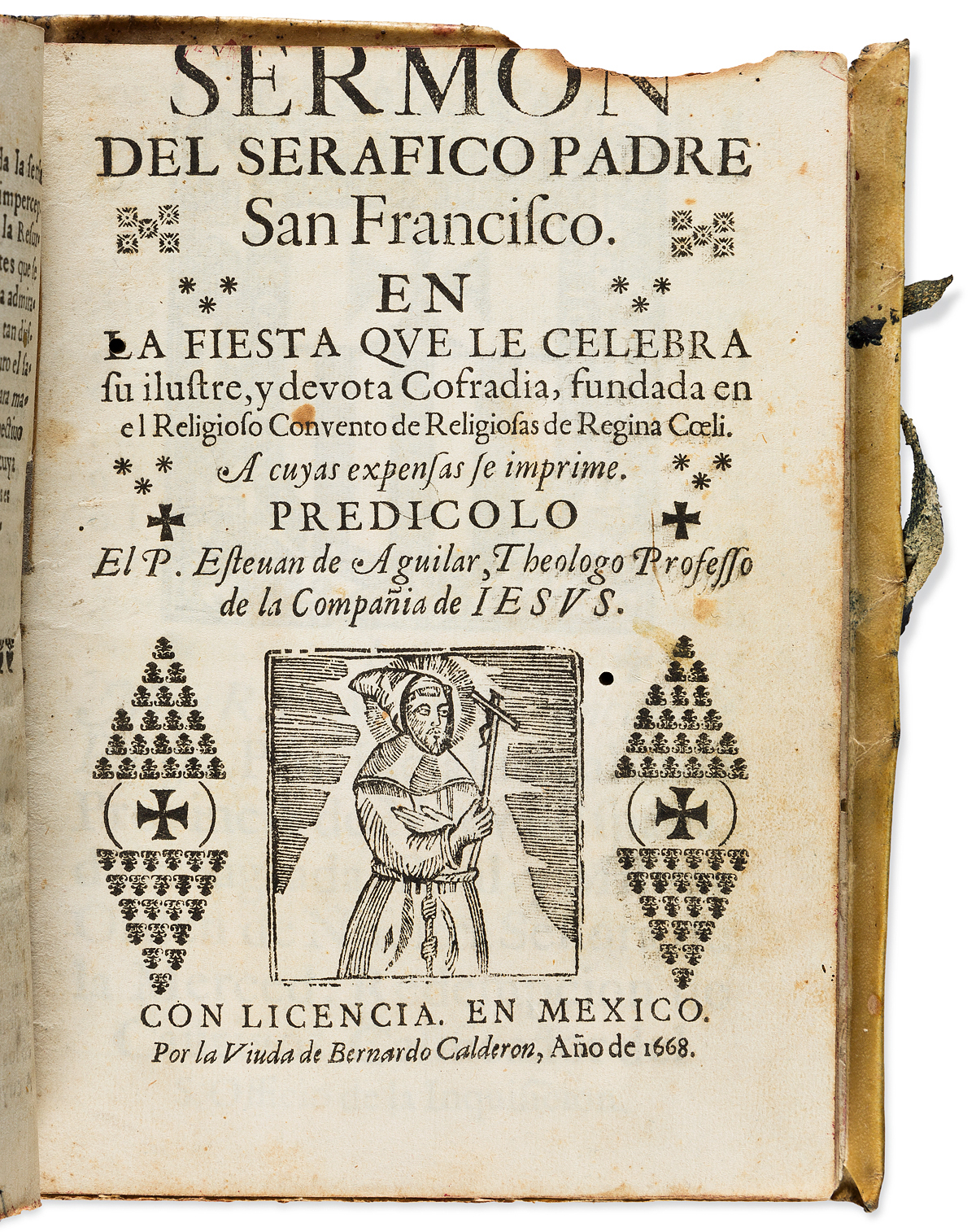 (MEXICAN IMPRINT--1638.) Volume of sermons printed in Mexico and Manila, some of them scarce.