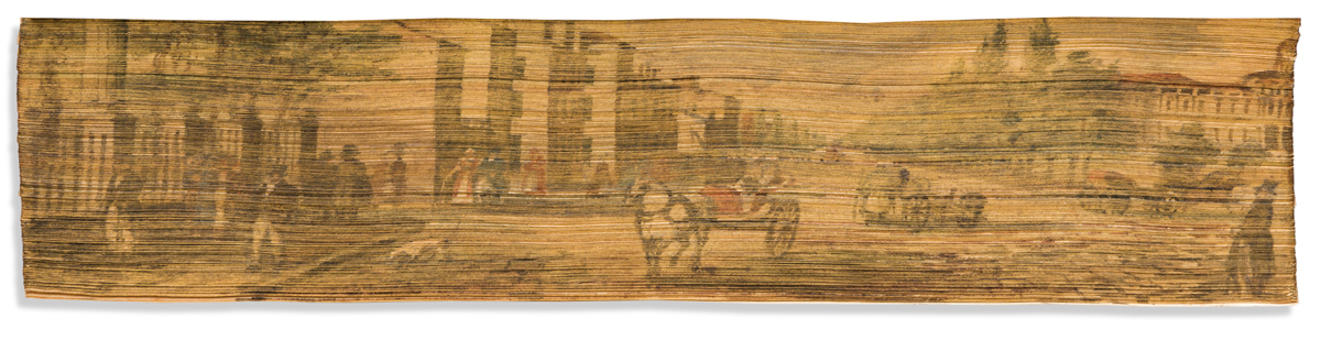 (FORE-EDGE PAINTING.) A List of the Officers of the Army and Marines; with an index: A Succession of Colonels;