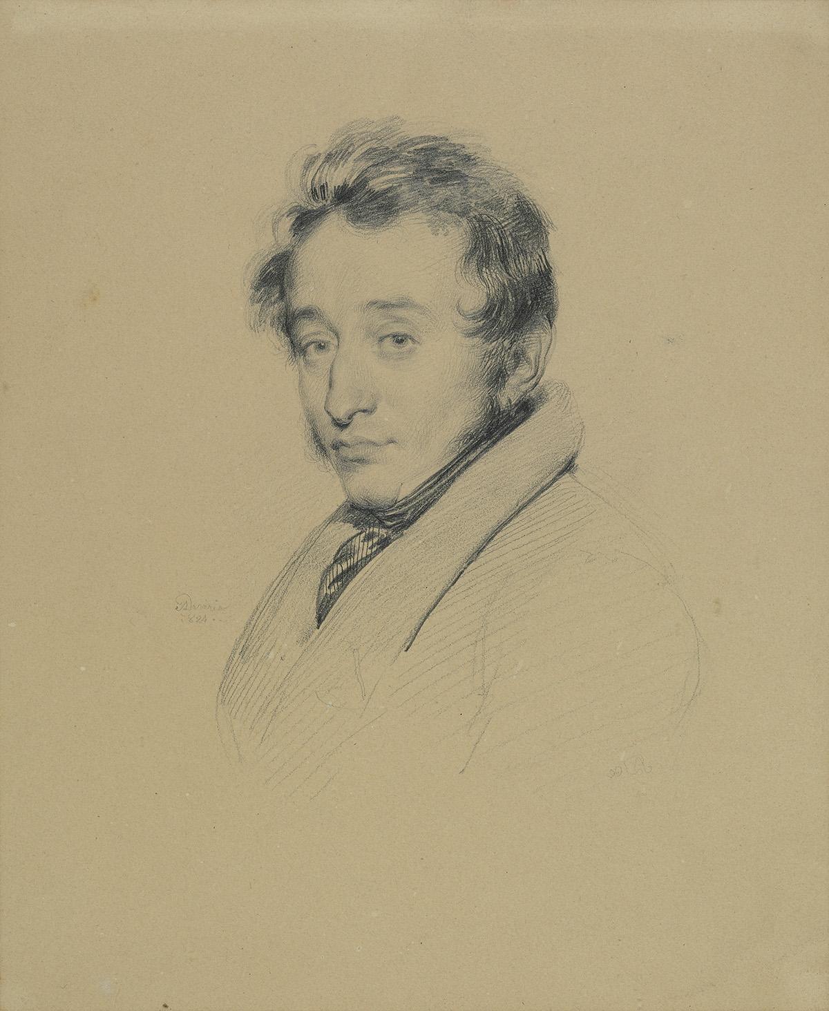 ACHILLE-DEVÉRIA-(Paris-1800-1857-Paris)-Portrait-of-a-Man