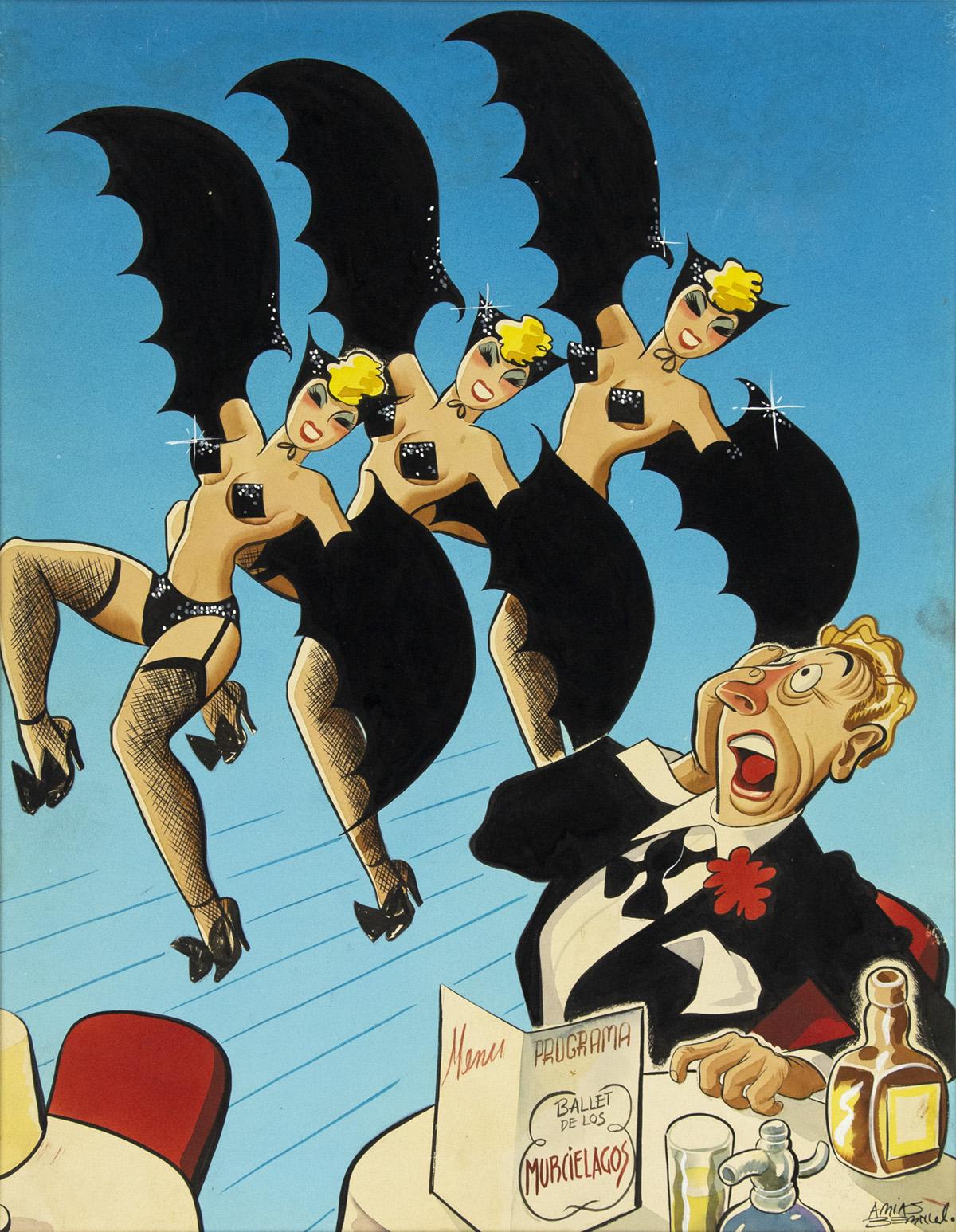 (ANTONIO) ARIAS BERNAL. Ballet de los Murciélagos. (Bat Ballet.) [LATIN AMERICAN / COVER ART / MEXICO CITY]