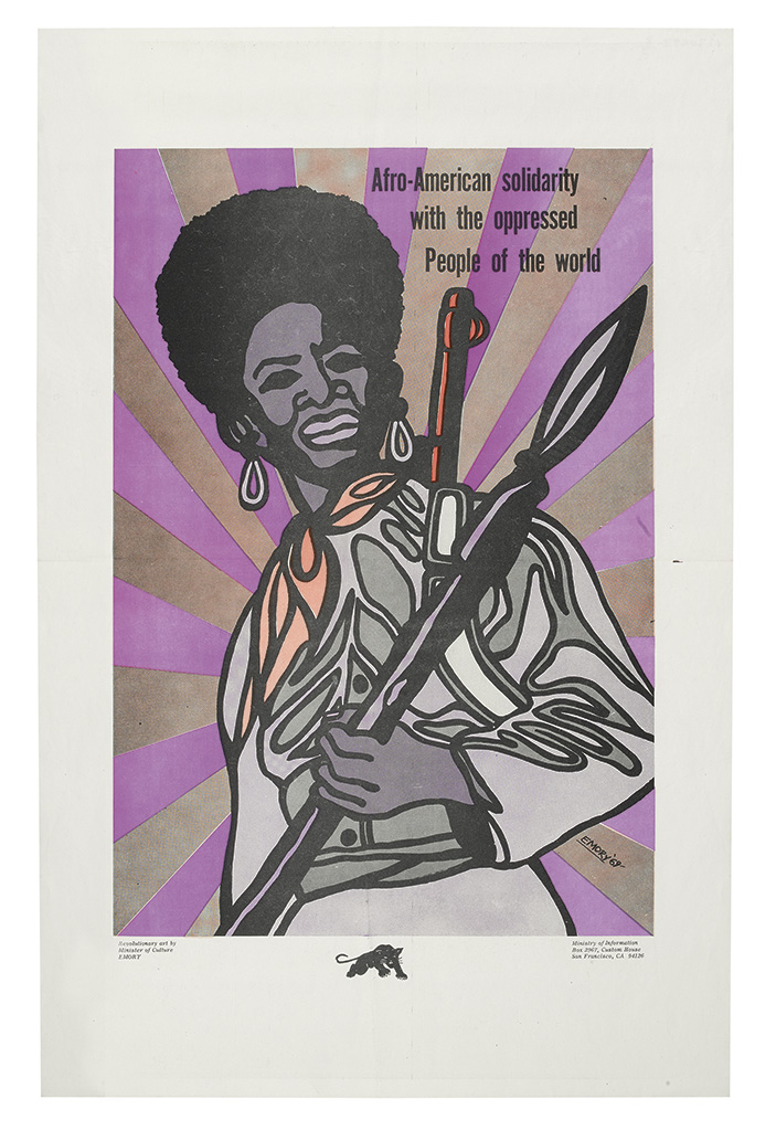 DOUGLAS, EMORY. Free Huey * African American Solidarity with the Oppressed People of the World * Only on the Bones of the Oppressors ca