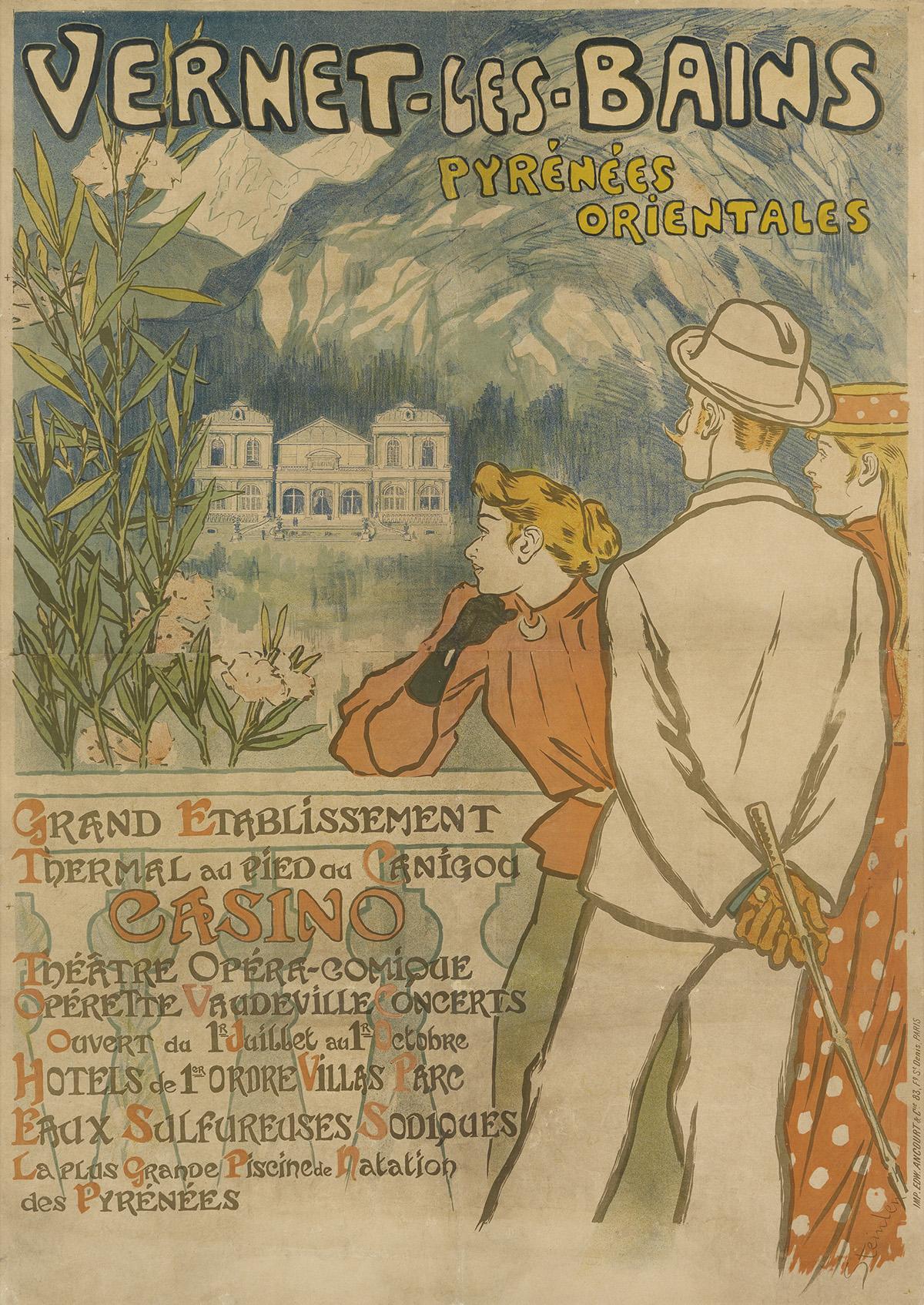 THÉOPHILE-ALEXANDRE-STEINLEN-(1859-1923)-VERNET---LES---BAIN