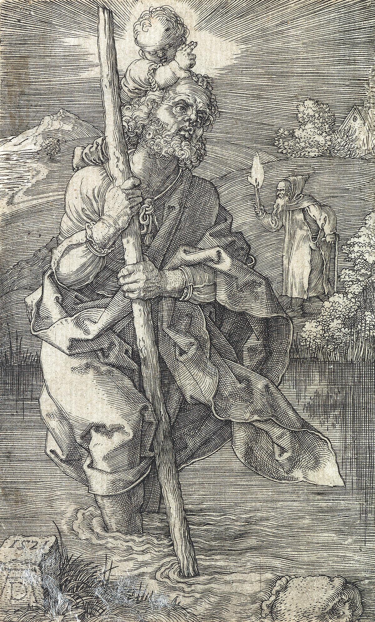 ALBRECHT DÜRER St. Christopher, facing right.