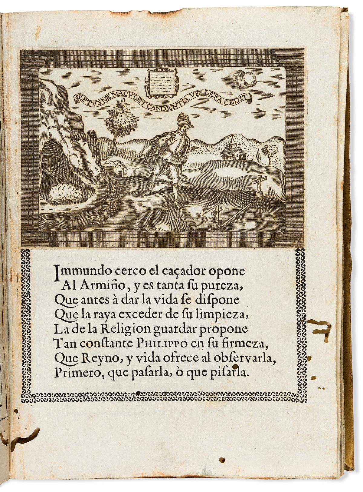 (MEXICAN IMPRINT--1666.) Isidro Sariñana. Llanto del occidente en el ocaso del mas claro sol de las Españas: