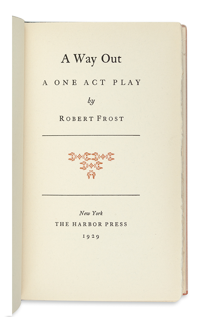FROST-ROBERT-A-Way-Out-A-One-Act-Play