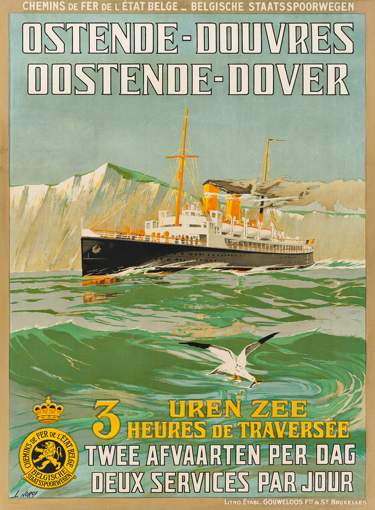 L-NOROY-(DATES-UNKNOWN)-OSTENDE---DOUVRES-1928-41x30-inches-